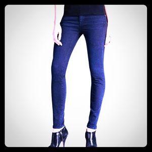 NWOT, Designer J BRAND Dark Tudor Skinny Jeans